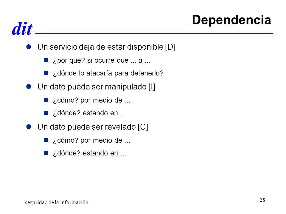 Dependencia Un servicio deja de estar disponible [D]
